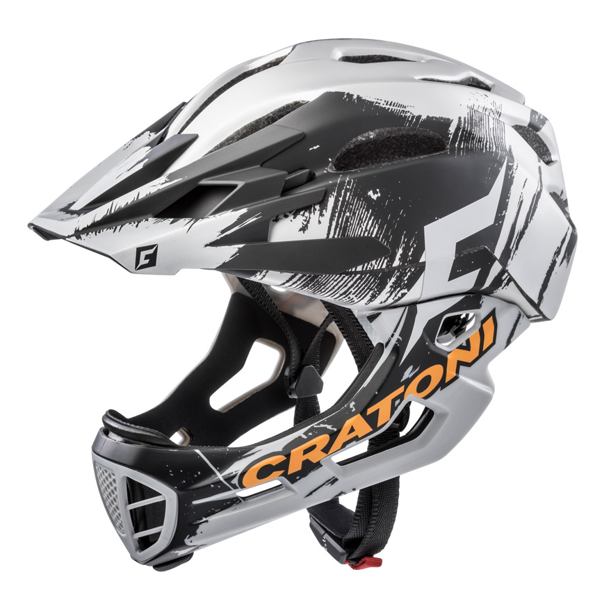 cratoni c maniac pro mtb downhill helm mit kinnb gel. Black Bedroom Furniture Sets. Home Design Ideas